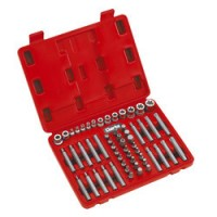 """PRO164 - 56 Piece ¼"""", 3/8"""" & ½"""" Drive Torx-Star® / Spline Socket & Bit Set"""