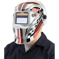 GWH6 Chequer Design Arc Activated Solar Powered Grinding/Welding Headshield