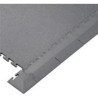 Grey PVC Edge Piece For Interlocking Floor Tiles (Single Unit)