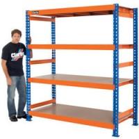 CS41000BO 1000kg Heavy Duty Boltless Shelving (Blue & Orange)