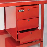 Cd3wb Three Drawer Lockable Unit For Clarke Workbenches