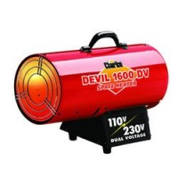 DEVIL1600DV Dual Voltage 110/230V Gas Heater