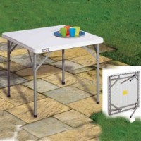 HDT855 2.8ft Square HD PE Folding Table
